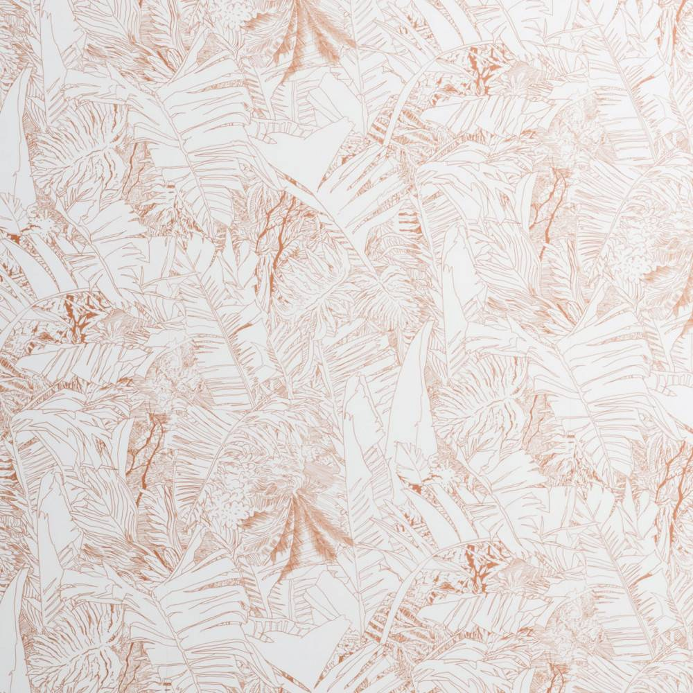 Jungle wallpaper - copper on white - Tiphaine de Bodman