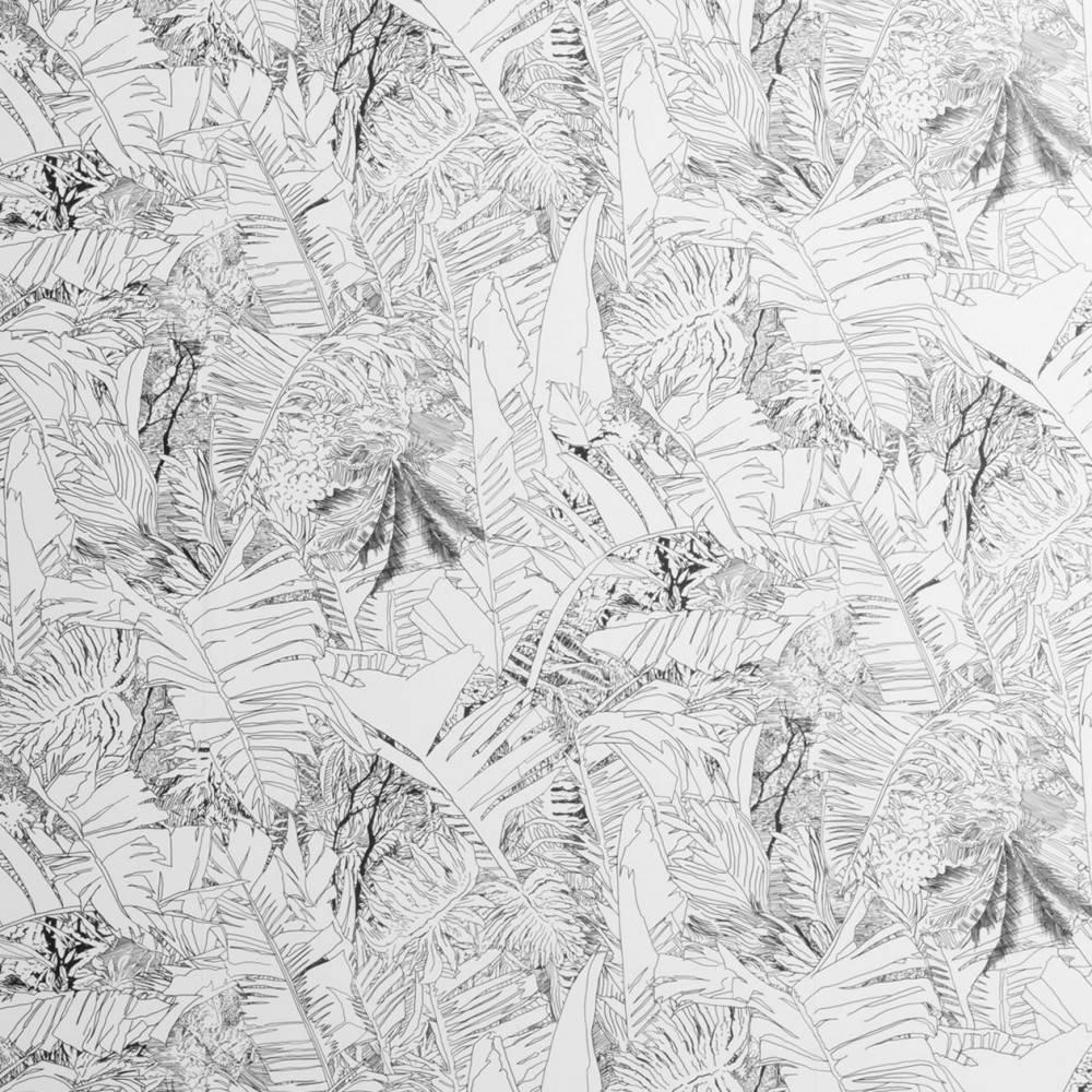 Papier peint jungle noir et blanc - Petite Friture