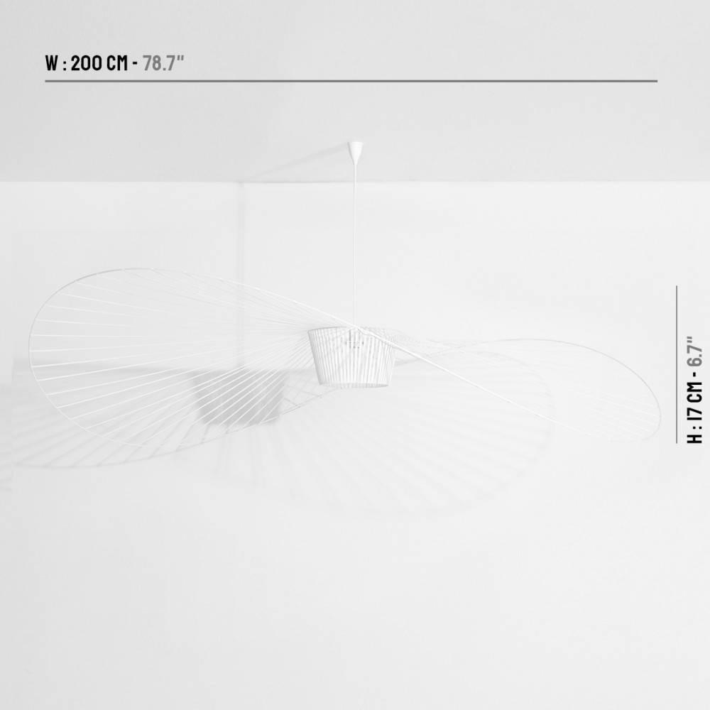 Suspension Vertigo 200cm blanche - Petite Friture