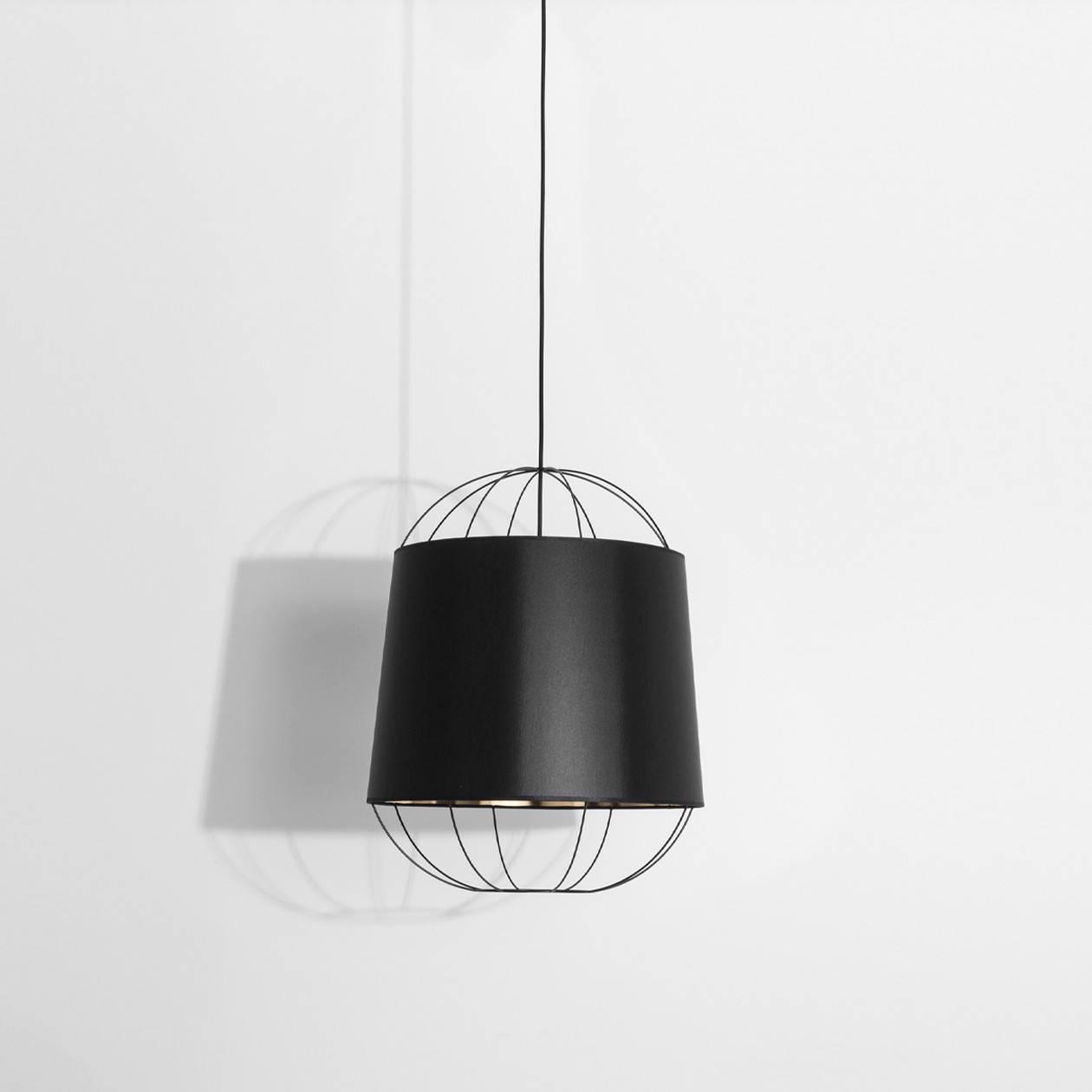 Suspension Lanterna medium noire - Sam Baron pour Petite Friture