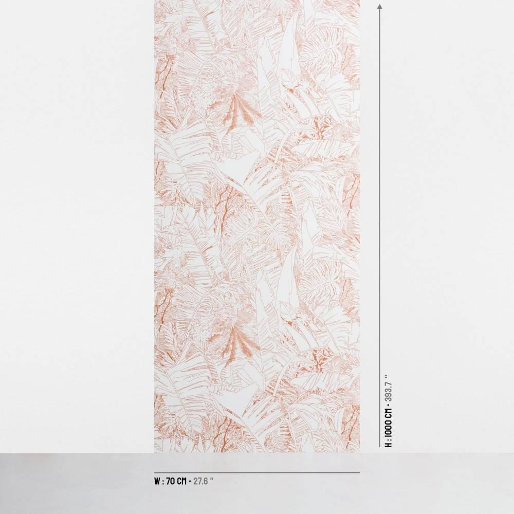 Papier-peint jungle cuivre - dimensions - Petite Friture