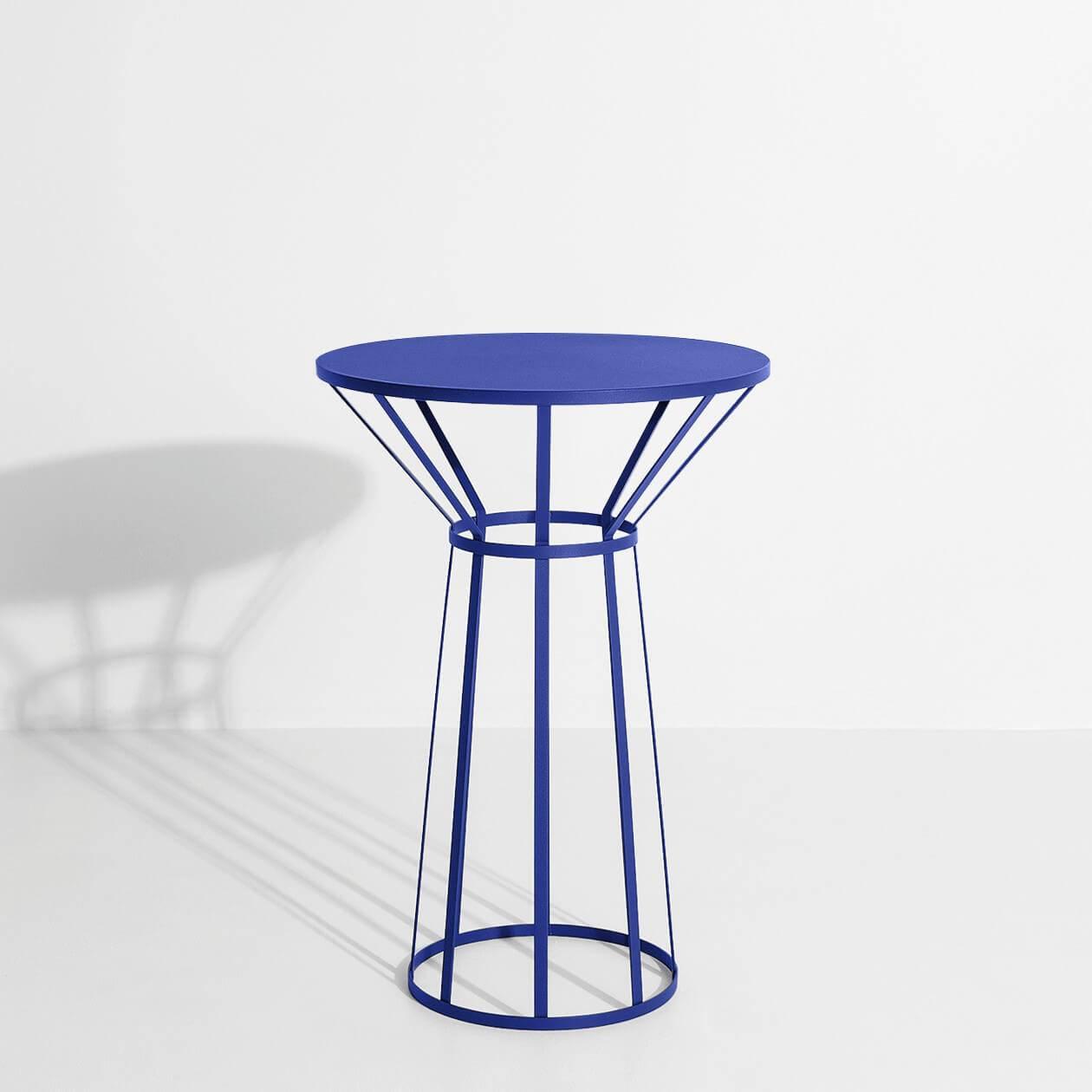 Guéridon design bleu Hollo - Petite Friture