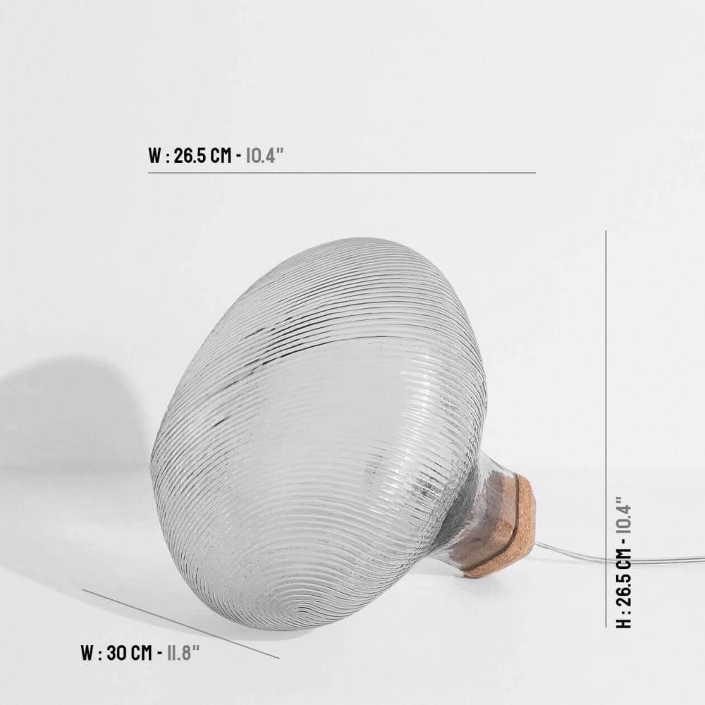 Lampe de sol design - verre fumé taille - Petite Friture