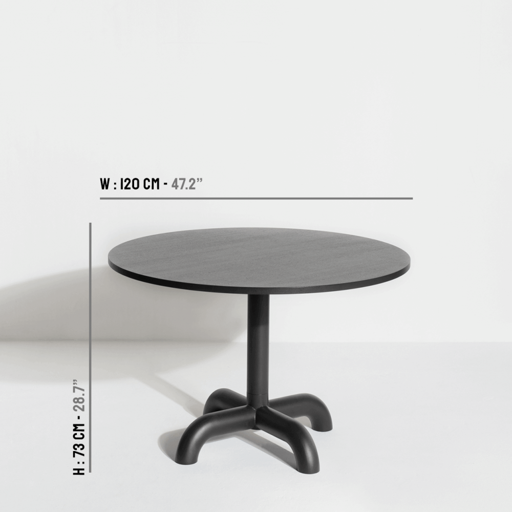 Wooden round table Unify dimensions - Petite Friture