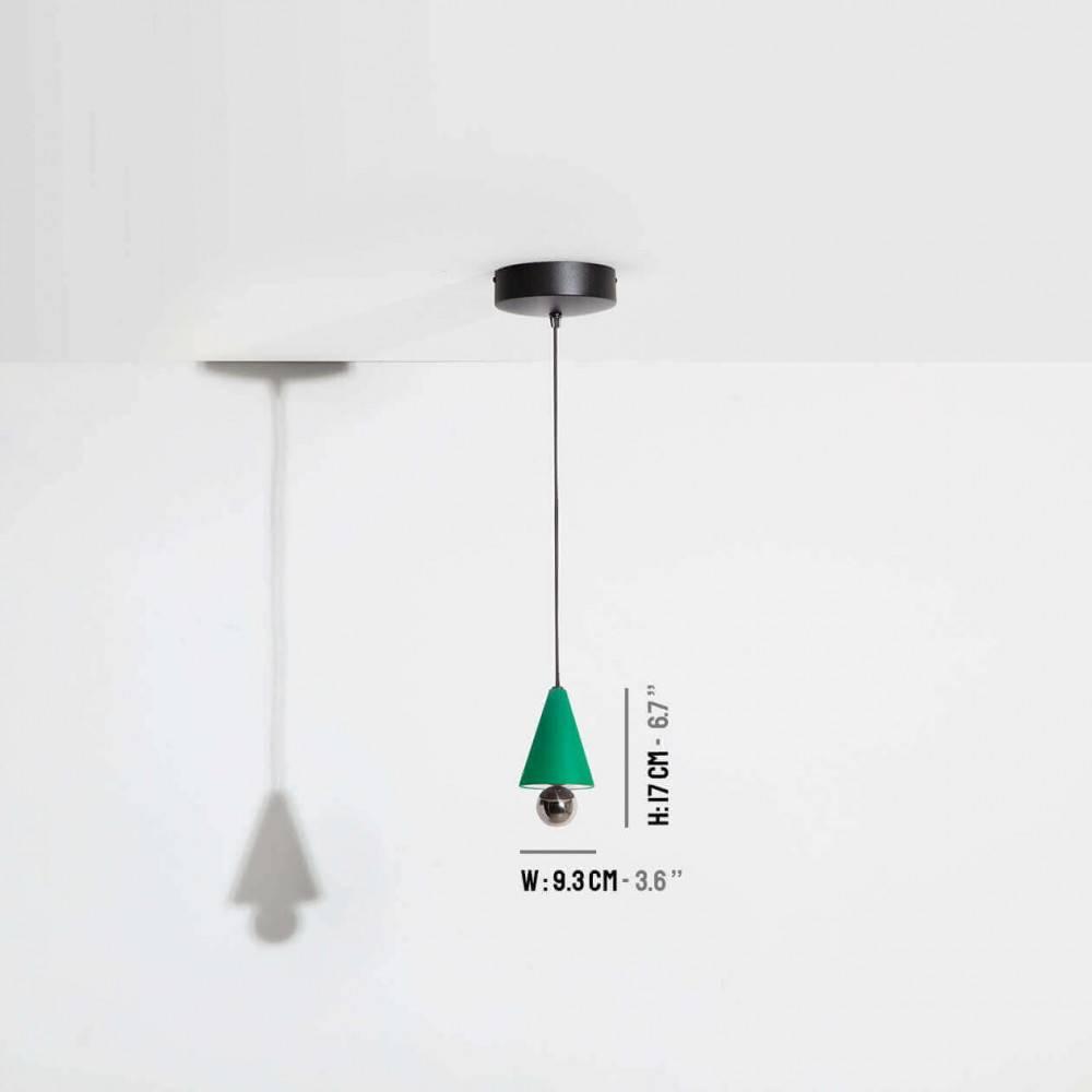 Suspension-mini-Cherry-vert-LED-Petite-Friture-dimensions