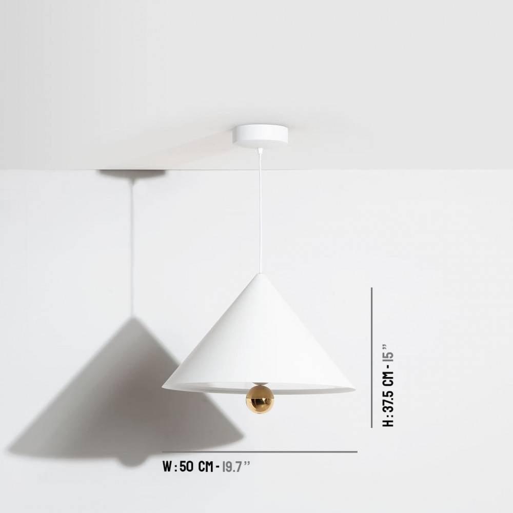 Suspension-grande-Cherry-blanc-LED-Petite-Friture-dimensions
