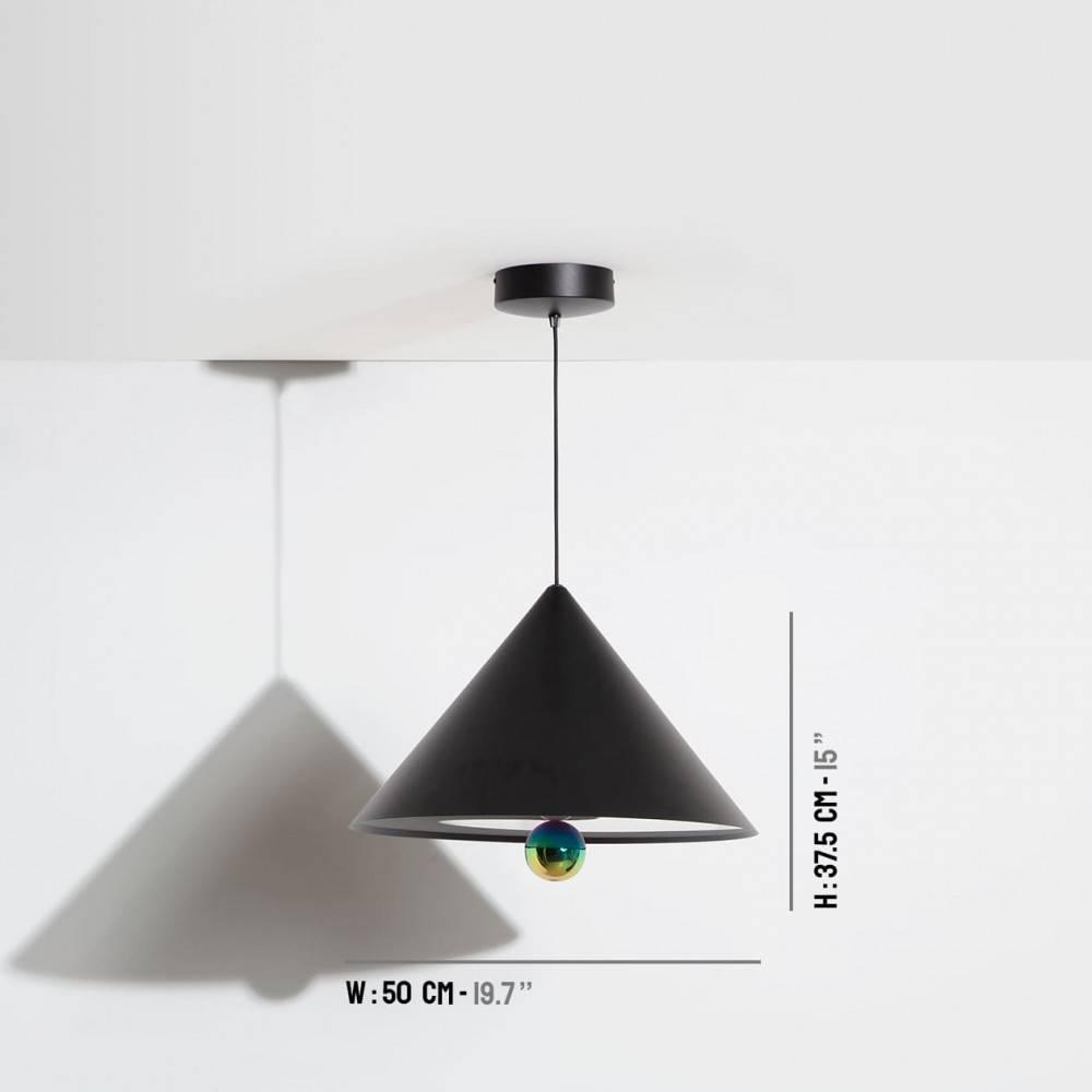 Suspension-grande-Cherry-noir-LED-Petite-Friture-dimensions