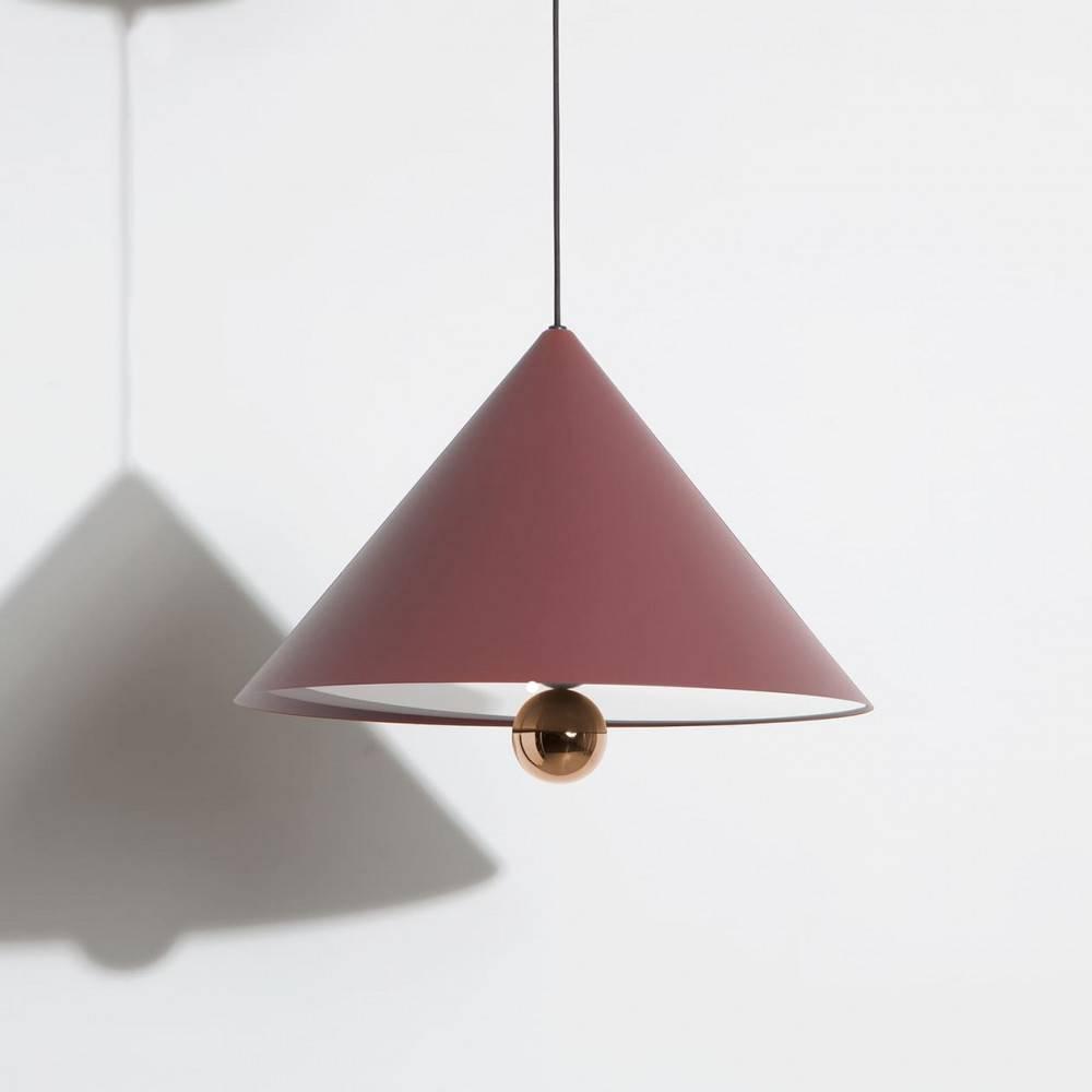 Suspension-grande-Cherry-brun-rouge-LED-Petite-Friture