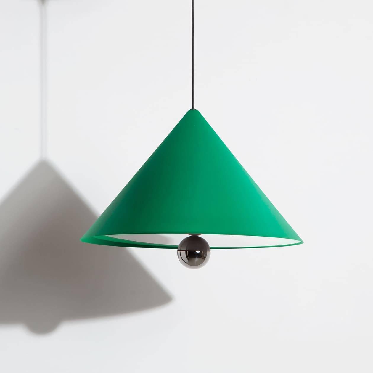 Large-pendant-lamp-Cherry-LED-green-Petite-Friture