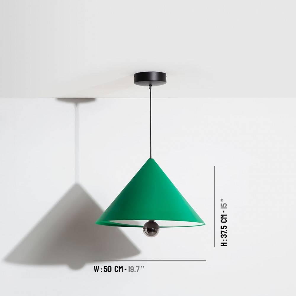 Suspension-grande-Cherry-vert-LED-Petite-Friture-dimensions