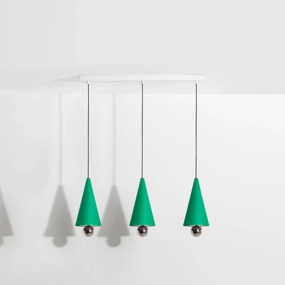 Suspension-3-pendants-Cherry-LED-vert-Petite-Friture
