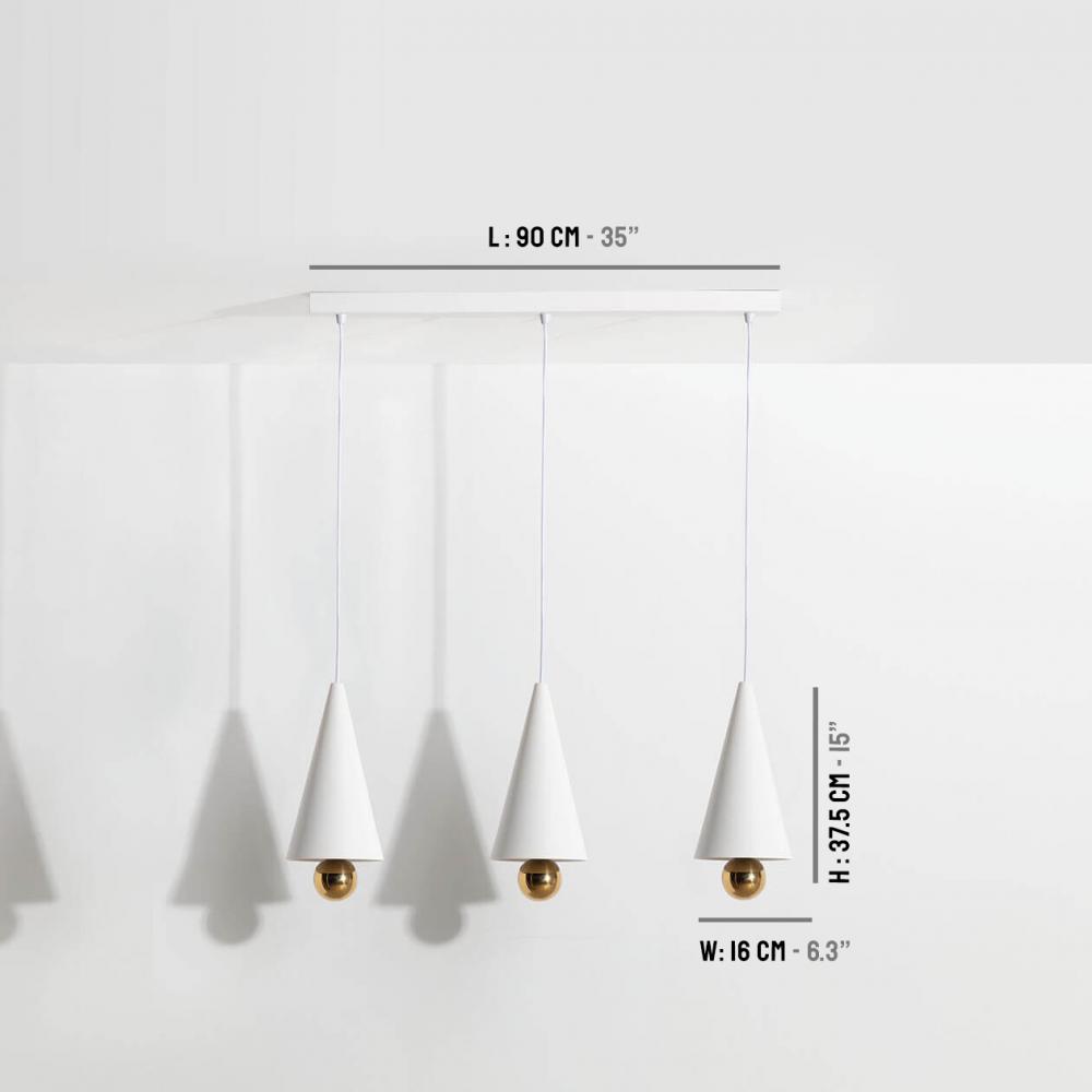Suspension-moderne-3-pendants-Cherry-LED-blanc-Petite-Friture-dimensions