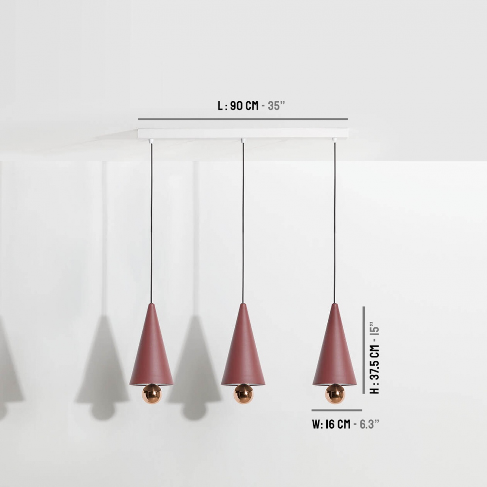 Pendant-system-3-pendants-Cherry-LED-brown-red-Petite-Friture-dimensions