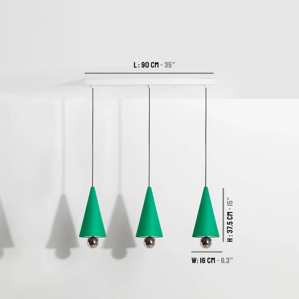 Pendant-system-3-pendants-Cherry-LED-green-Petite-Friture-dimensions
