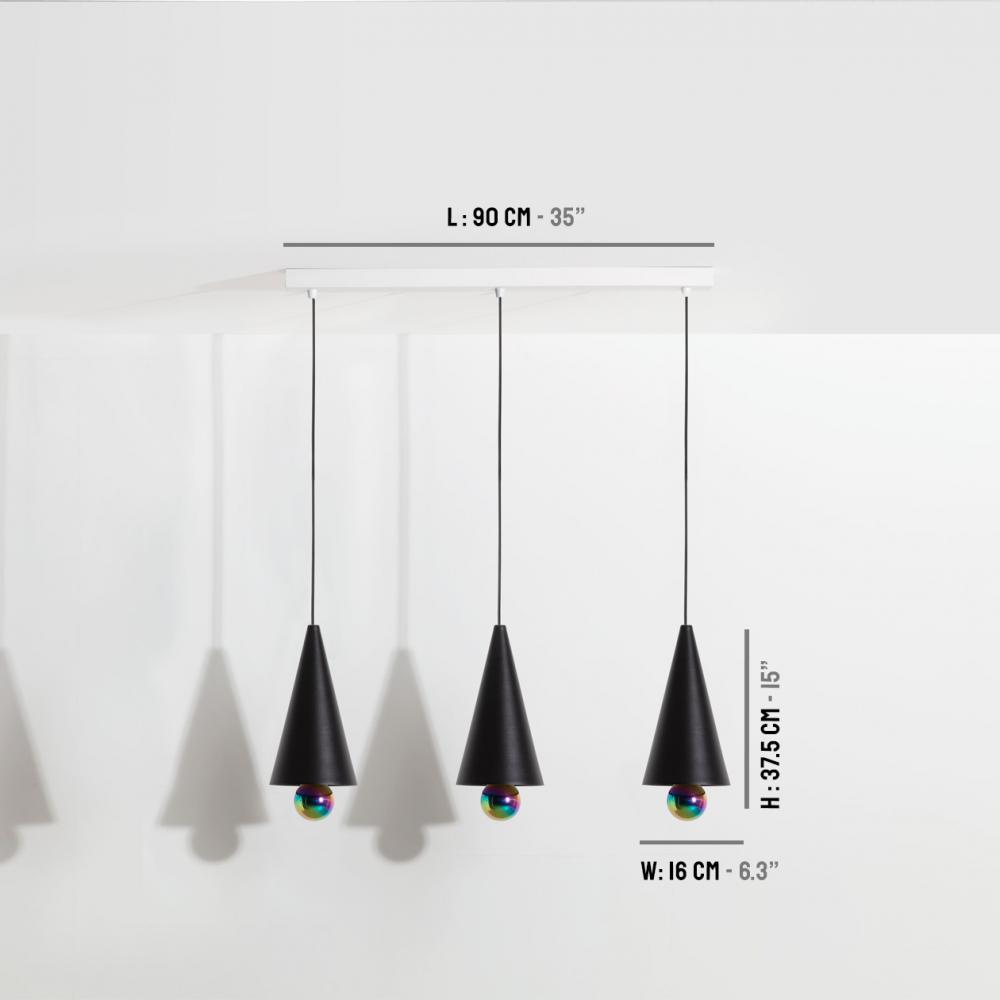Pendant-system-3-pendants-Cherry-LED-black-Petite-Friture-dimensions