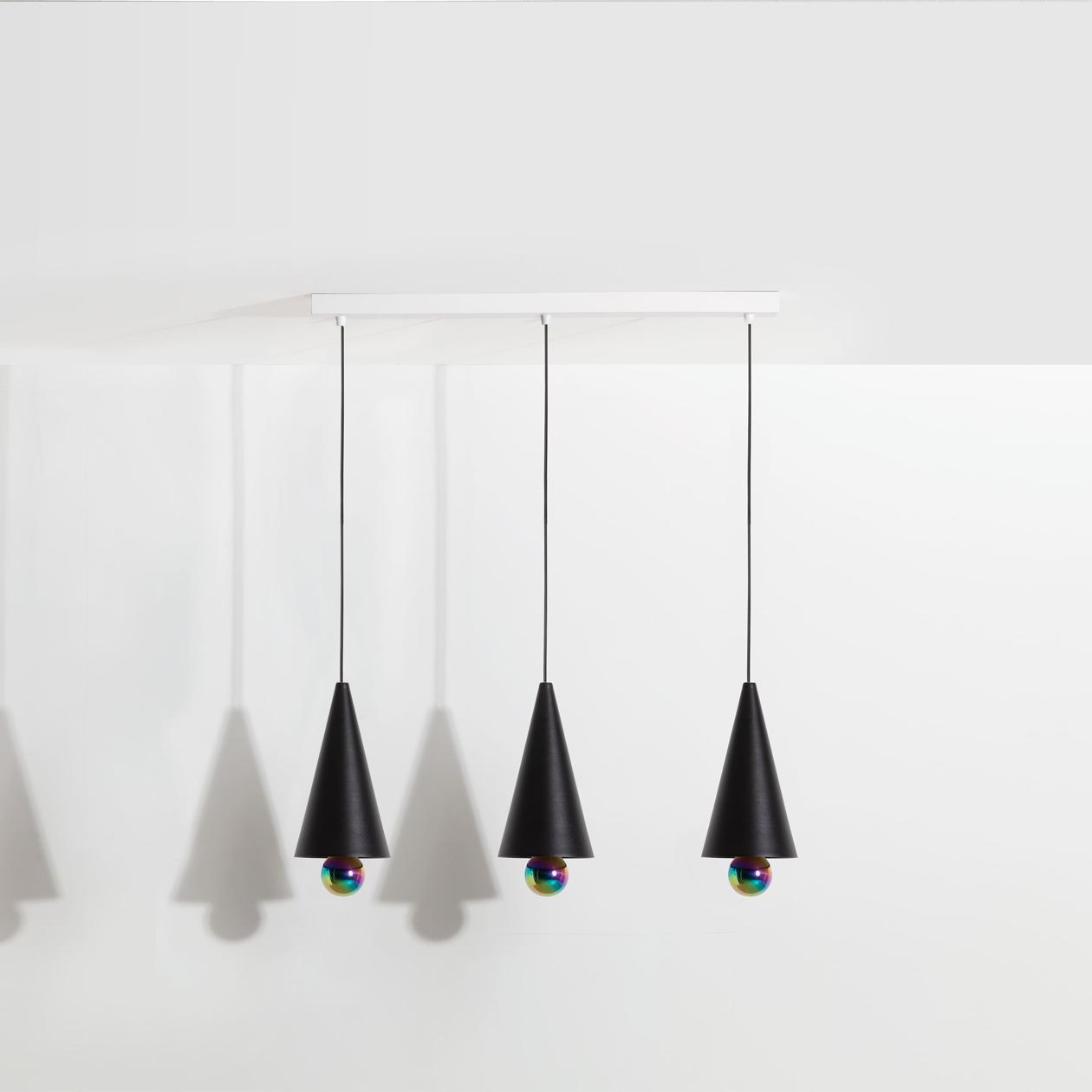 Suspension-3-pendants-Cherry-LED-noir-Petite-Friture