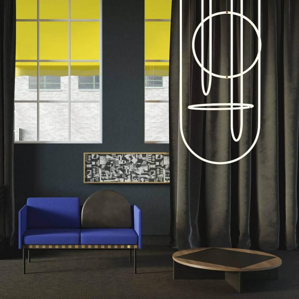 Table basse bois et noire Tavla - salon
