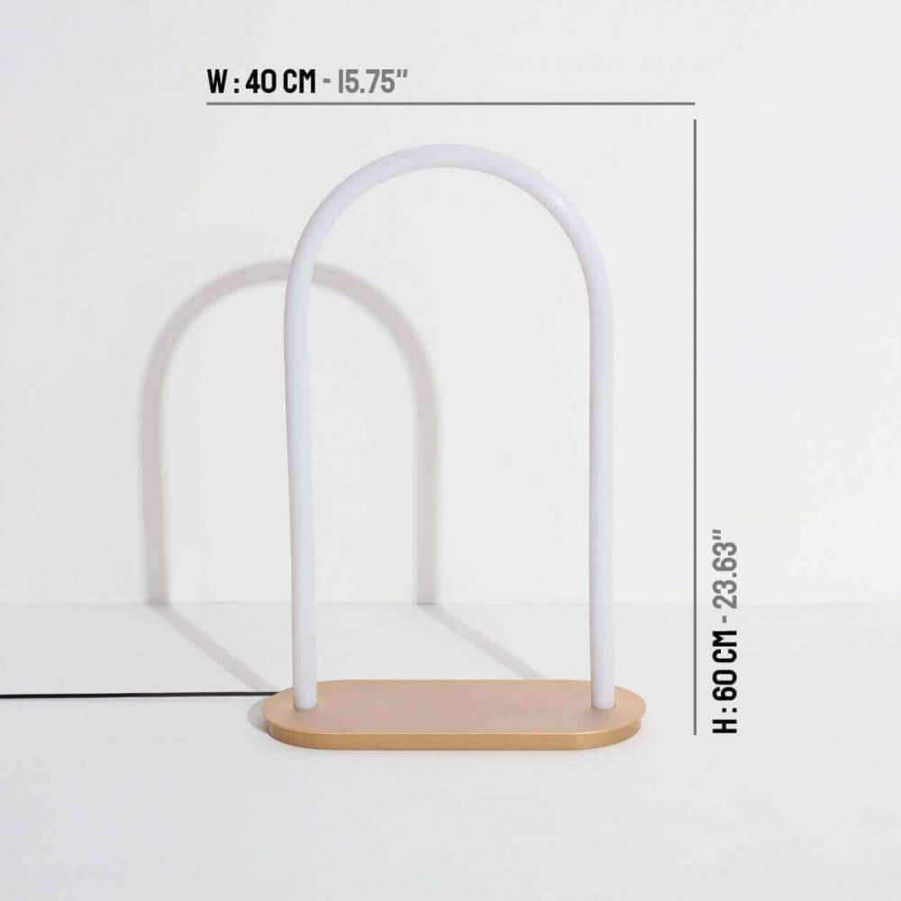 Grande lampe à poser design UNSEEN avec dimensions - Petite Friture