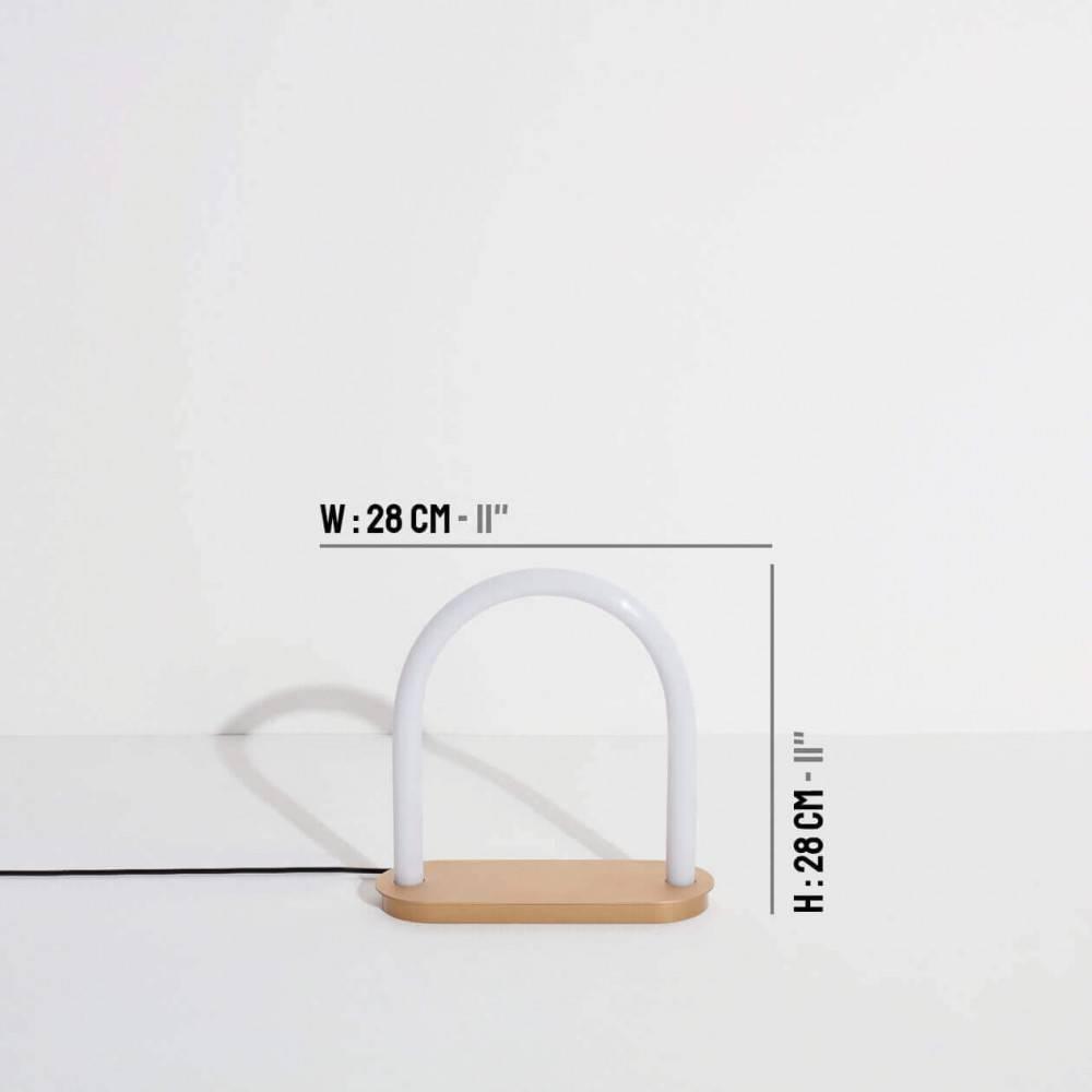Petite lampe à poser design UNSEEN avec dimensions - Petite Friture