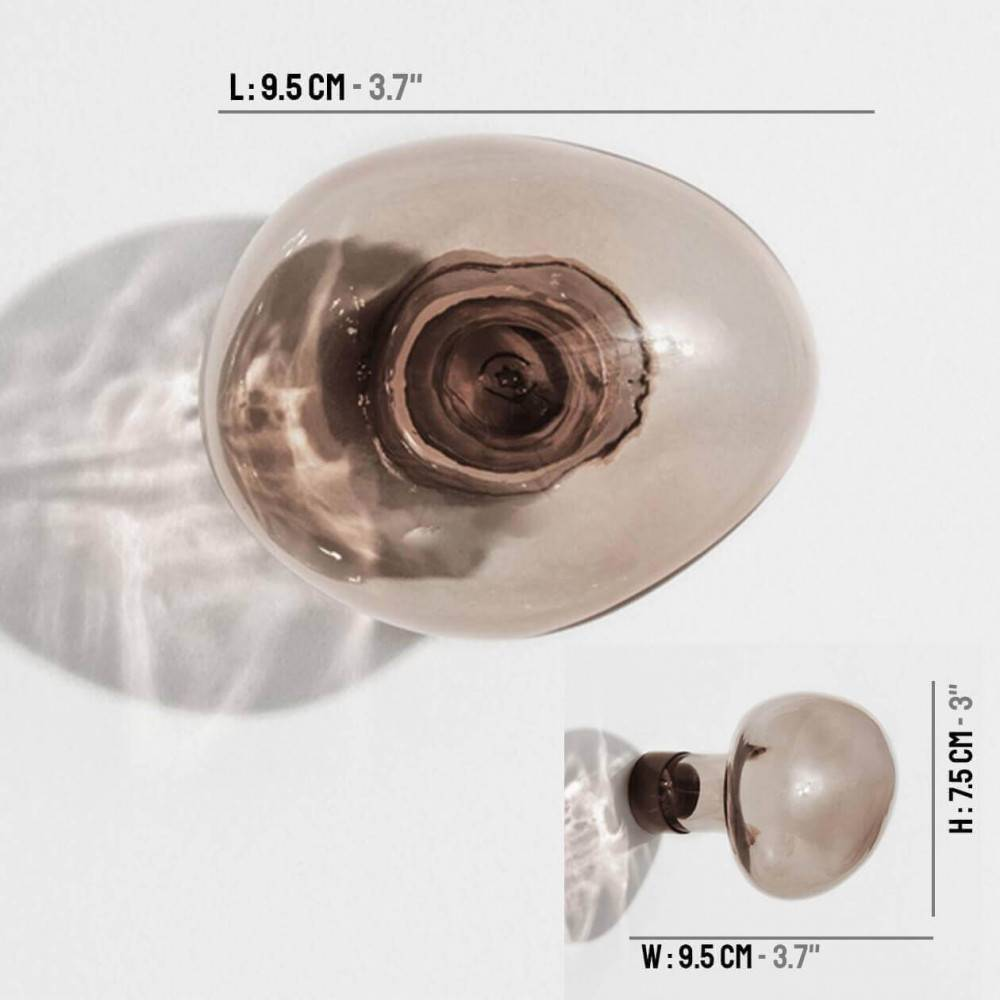 Patère design Bubble - Petit gris avec dimensions - Petite Friture