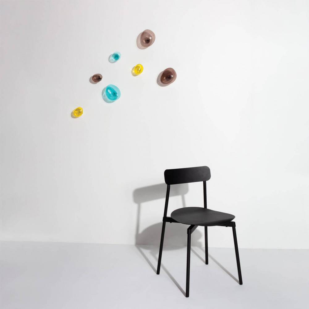 Bubble hooks with black chair FROMME - Petite Friture