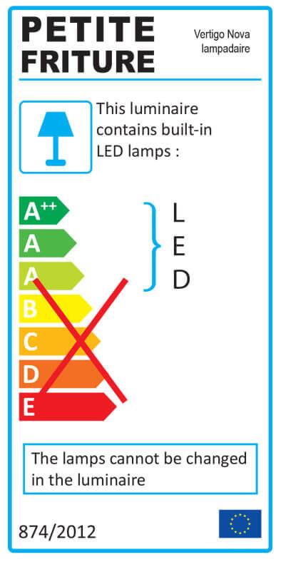 Etiquette énergétique lampadaire VERTIGO NOVA